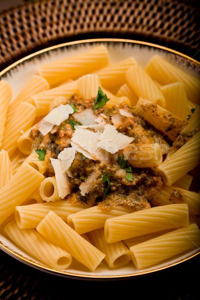 Stock photo: Pasta with Sicilian pesto