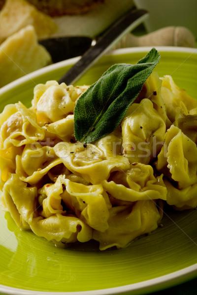 Tortellini boter salie heerlijk Italiaans vers Stockfoto © Francesco83