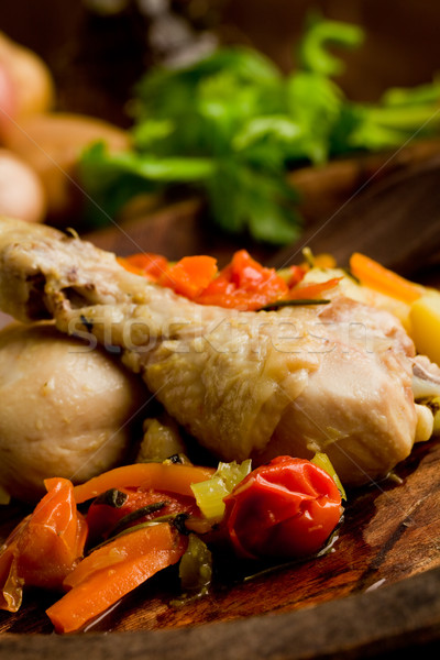 Stewed Chicken with vegetables Stock photo © Francesco83