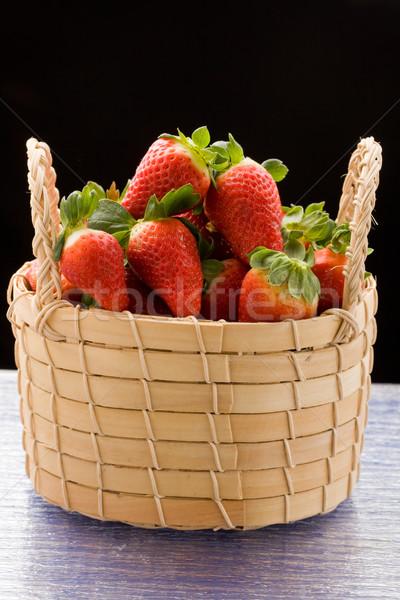 клубники внутри корзины фото красный Сток-фото © Francesco83