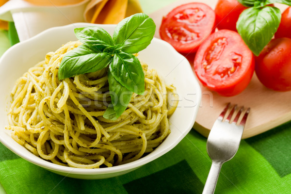 Spaghetti with pesto  Stock photo © Francesco83