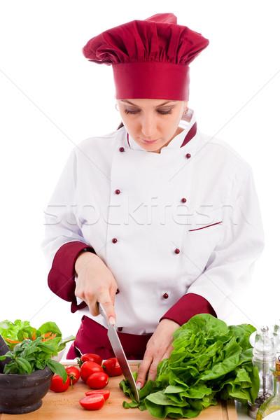Chef photo Homme restaurant blanche femme Photo stock © Francesco83