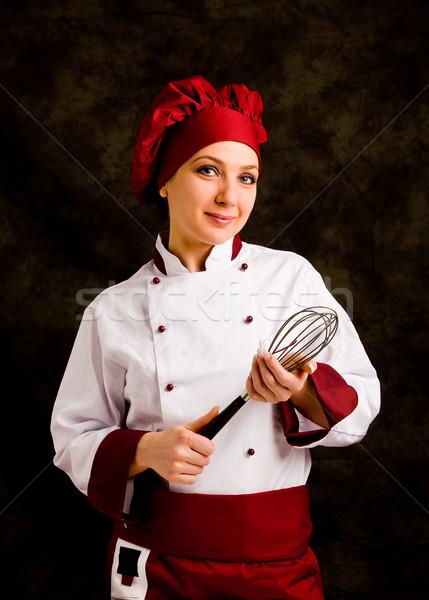 Chef zweep foto jonge vrouwelijke handen Stockfoto © Francesco83