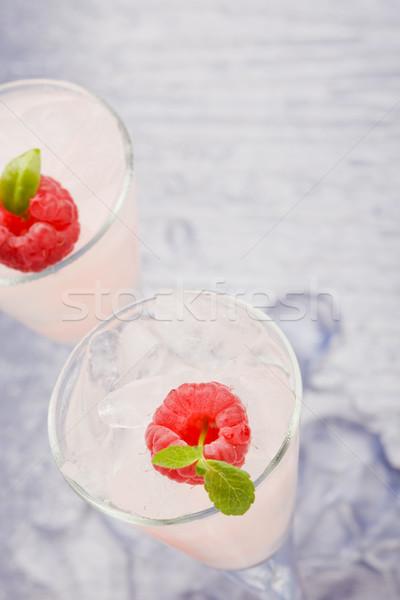 Málna likőr fotó menta levél alkohol Stock fotó © Francesco83