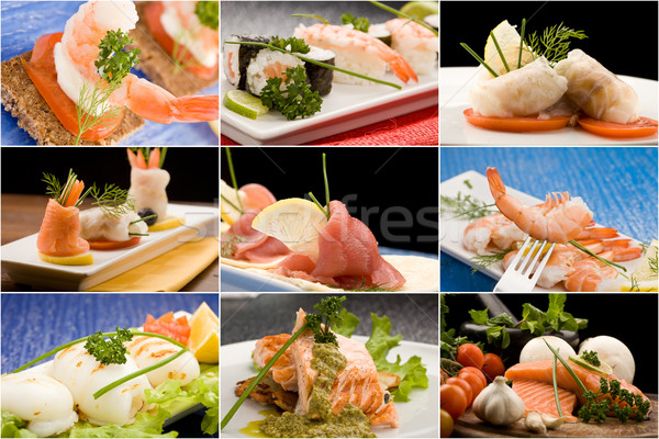 Stock photo: Fish Collage