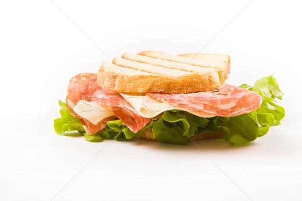 Foto d'archivio: Salsiccia · formaggio · sandwich · foto · alimentare