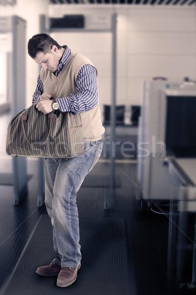 Metal detector cuerpo escáner foto hombre Foto stock © Francesco83