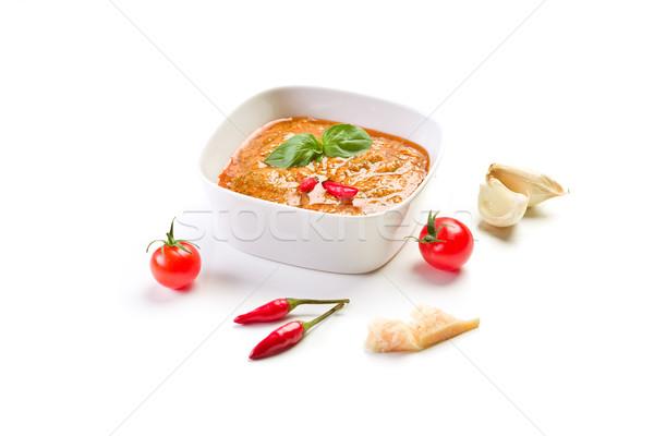 Sicilian Pesto with chili on white Stock photo © Francesco83