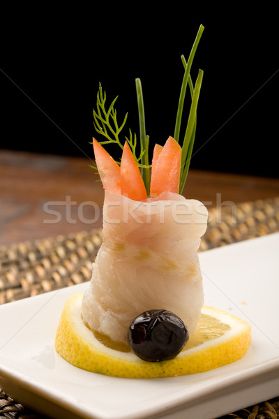 Sea Bass rolls with tomatoes Stock photo © Francesco83