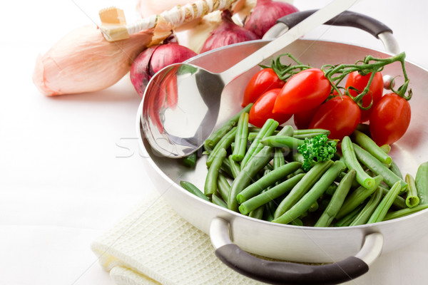 French Beans inside a pan Stock photo © Francesco83