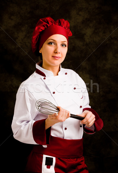Stock photo: Chef with whip