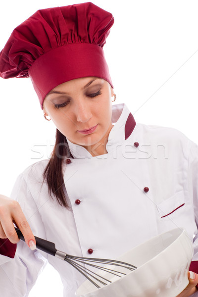 Chef with bowl and whip Stock photo © Francesco83