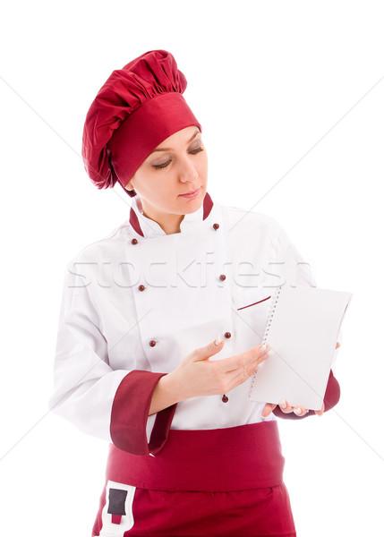 Stock photo: Chef presenting new menu