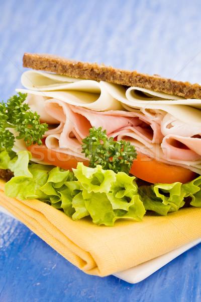 Сток-фото: сыра · ветчиной · сэндвич · фото · большой