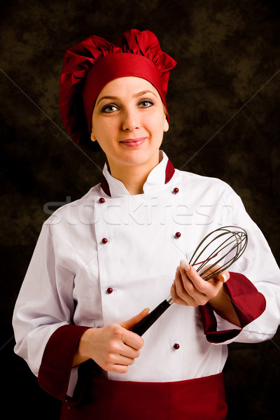 Chef with whip Stock photo © Francesco83