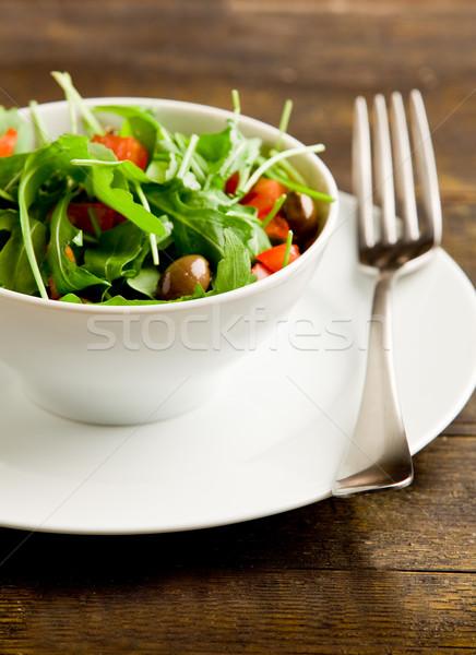 Egészséges saláta fotó fény paradicsomok fehér Stock fotó © Francesco83