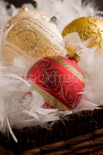 クリスマス 装飾 写真 羽毛 ストックフォト © Francesco83