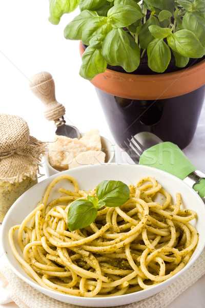 Pasta with Pesto Stock photo © Francesco83