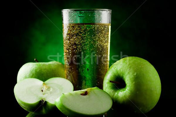 緑 リンゴジュース 新鮮な スポット リンゴ ストックフォト © Francesco83