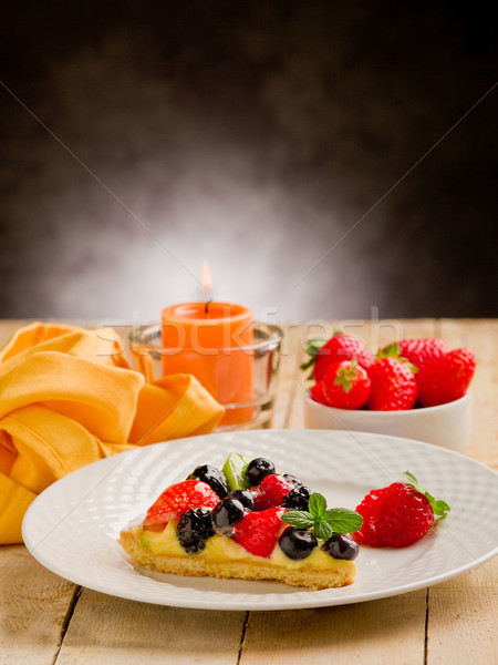 пирог свечу клубники фото сельский Сток-фото © Francesco83