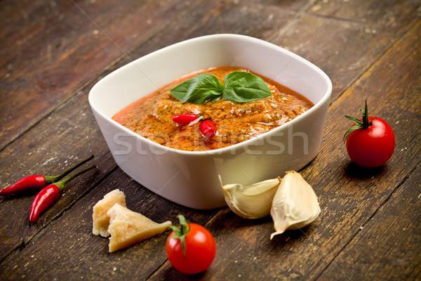 Sicilian Pesto with chili Stock photo © Francesco83