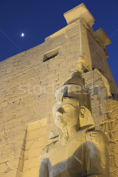 Night view of the statue of Ramses II. (Luxor, Egypt)  Stock photo © frank11