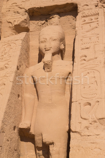 Posąg królowej świątyni Egipt budynku pustyni Zdjęcia stock © frank11