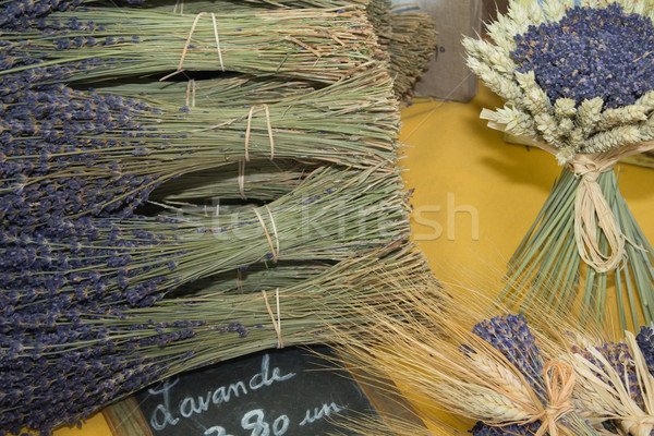 Bunches of lavender on a market stall, Provence  Stock photo © frank11