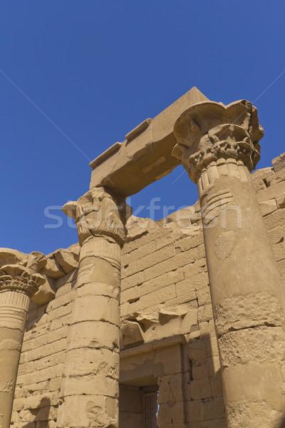 Tapınak Mısır Afrika Bina seyahat nehir Stok fotoğraf © frank11