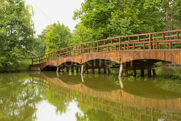 wooden bridge over a quiet river Stock photo © frank11