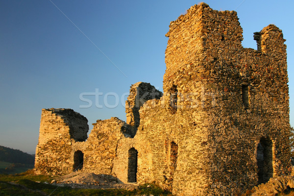 Antigua ruinas República Checa Europa central primavera Foto stock © frank11