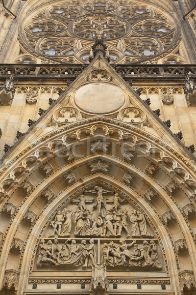 Portal of Cathedral of st. Vitus (Prague) Stock photo © frank11
