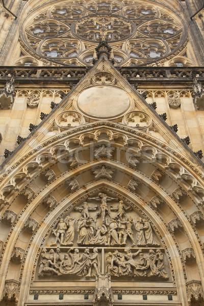 Porta katedrális Prága részletes kilátás Csehország Stock fotó © frank11