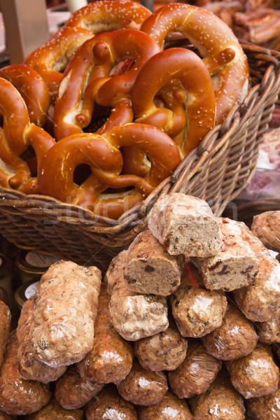 Perecek édes kosár étel piac szín Stock fotó © frank11