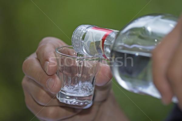 Részletes kilátás áramló szeszes ital szín fotó Stock fotó © frank11