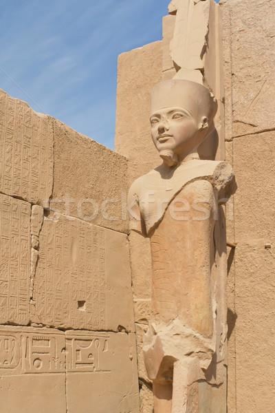 Estatua templo Egipto luxor textura edificio Foto stock © frank11