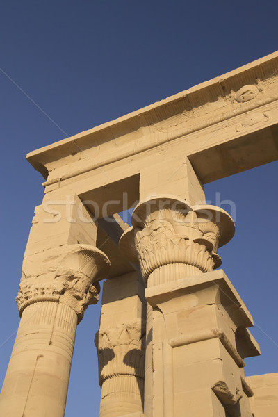 Detailed view at The Temple of Isis at Philae  ( Egypt)  Stock photo © frank11