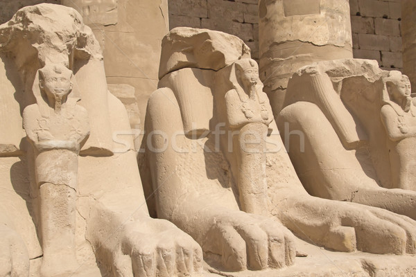 Statues of Rams at Karnak Temple ( Luxor, Egypt).  Stock photo © frank11