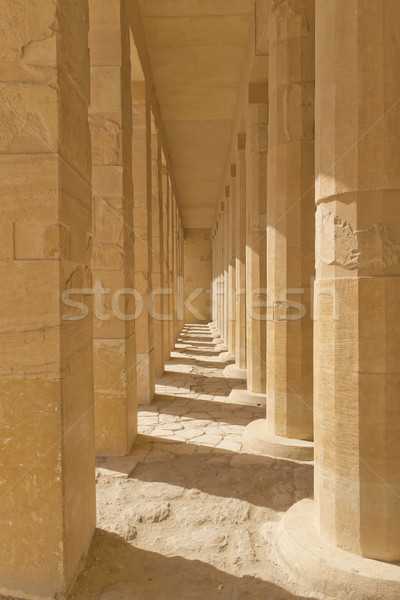 A colonnade at the Temple of Queen Hatshepsut  (Egypt ) Stock photo © frank11