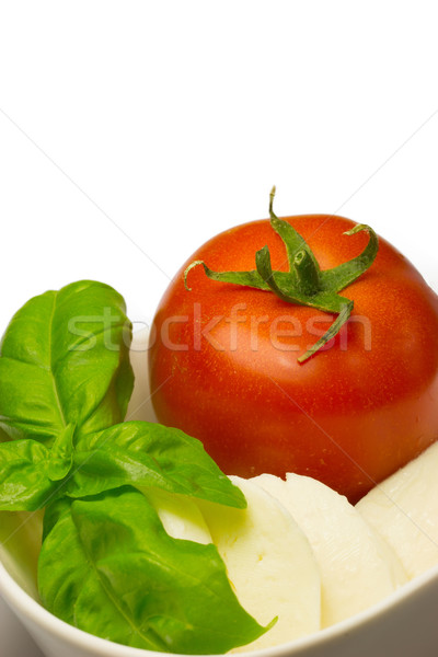 Tomato, fresh basil leaves and mozzarella. Stock photo © frank11