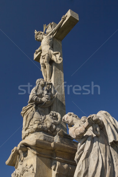 Statue of Jesus Christ on a cross. Vertically. Stock photo © frank11