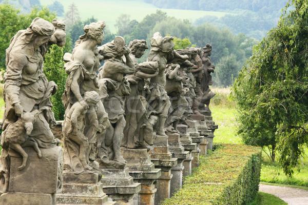 Barocco fila castello chiesa viaggio religione Foto d'archivio © frank11