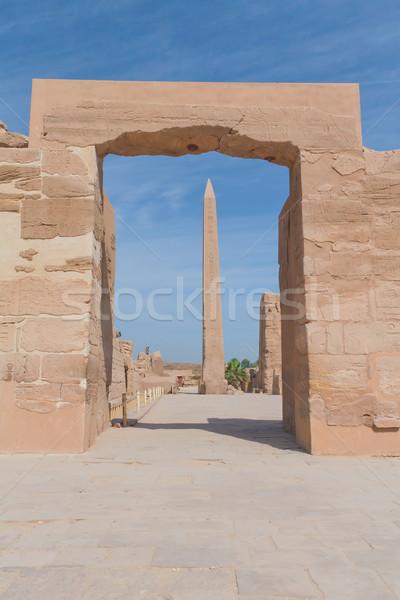 Obelisk at Karnak temple in Luxor (Egypt)  Stock photo © frank11