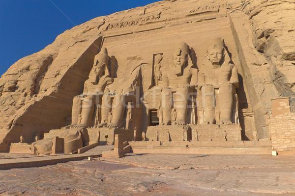 Tapınak kral Mısır sanat binalar eski Stok fotoğraf © frank11