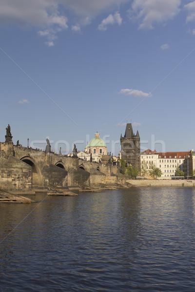 Híd Prága függőlegesen Csehország víz épület Stock fotó © frank11