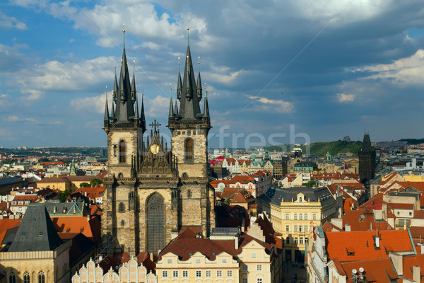 Church of Virgin Maria Before Tyn (Prague)  Stock photo © frank11