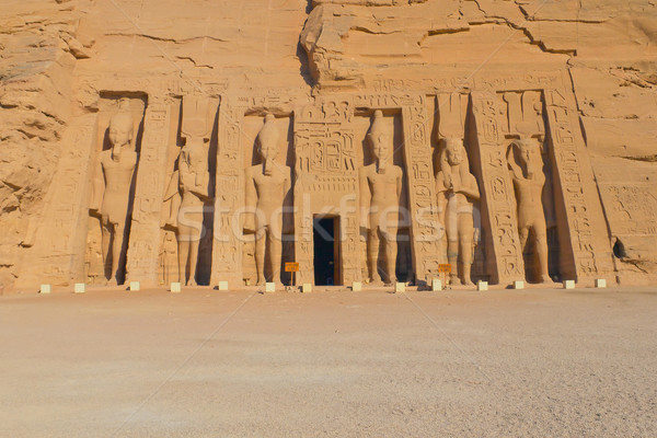 Temple of Hathor, dedicated to the wife of Ramses II, wife Nefer Stock photo © frank11