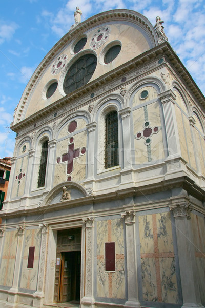 Church of Santa Maria dei Miracoli in the Venice (Italy) Stock photo © frank11