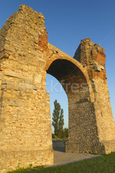 старые римской ворот Австрия Европа стены Сток-фото © frank11