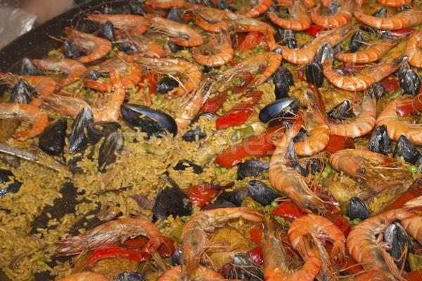 морепродуктов большой сковорода быстрого питания продовольствие куриные Сток-фото © frank11